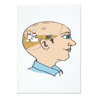 """El rodar en el cerebro invitación 5"""" x 7"""""""