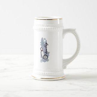 El rodar jarra de cerveza