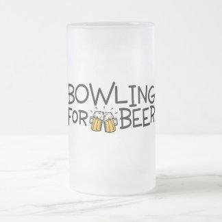 El rodar para la cerveza taza cristal mate