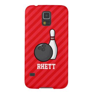 El rodar; Rayas del rojo del escarlata Carcasas De Galaxy S5