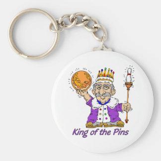 El rodar: Rey Of The Pins Llavero Redondo Tipo Pin