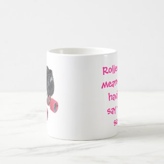 El rodillo Derby significa Taza De Café