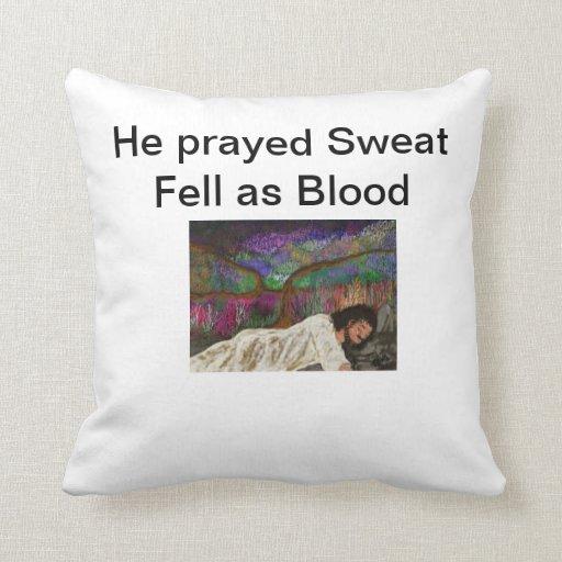 Él rogó el sudor se cayó como bienes de origen del cojín
