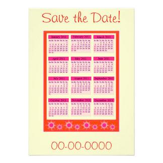 El rojo 2011 años de un vistazo hace calendarios i