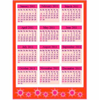 El rojo 2011 años de un vistazo hace calendarios l imán fotoescultura