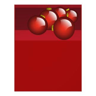 """El rojo adorna los efectos de escritorio folleto 8.5"""" x 11"""""""