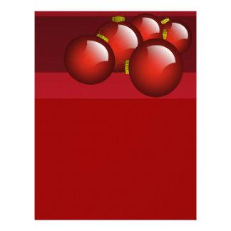 El rojo adorna los efectos de escritorio plantillas de membrete