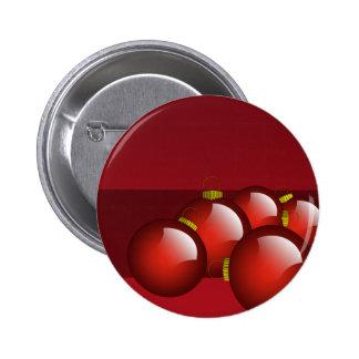 El rojo adorna los efectos de escritorio pin redondo de 2 pulgadas