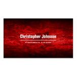 El rojo agita la tarjeta de visita profesional mod