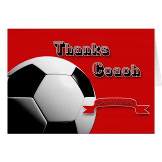 El rojo agradece al coche del fútbol tarjeta de felicitación