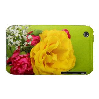 El rojo amarillo de los rosas florece la foto herm iPhone 3 Case-Mate cárcasa
