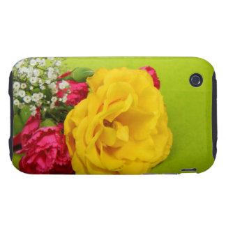El rojo amarillo de los rosas florece la foto herm iPhone 3 tough protectores