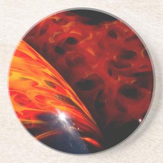 El rojo anaranjado flamea el parachoque clásico posavasos manualidades