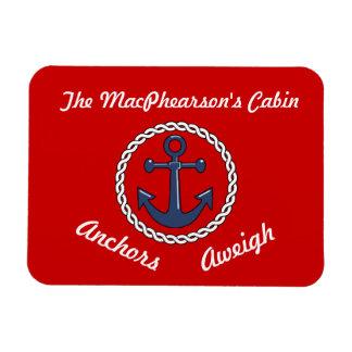 El rojo ancla el marcador Aweigh de la puerta de Imán De Vinilo