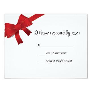 El rojo arquea el invierno que casa la tarjeta de invitacion personal