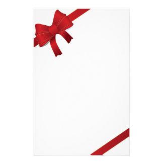 El rojo arquea los efectos de escritorio del navid papelería