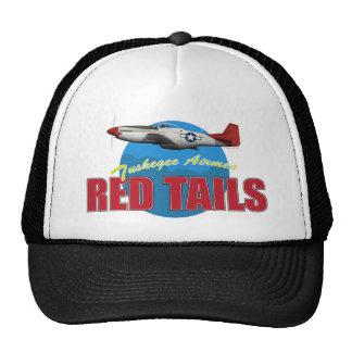 El rojo ata a los aviadores de Tuskegee Gorros