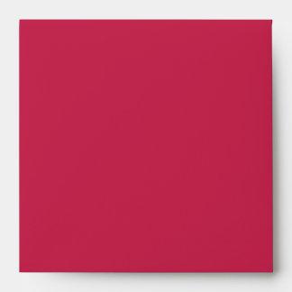 El rojo atractivo grabó en relieve reflejo del sobres