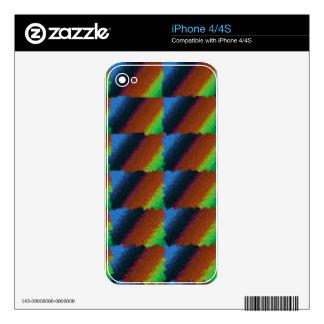 El rojo azul y el amarillo ajustaron el arte de Di Skins Para eliPhone 4