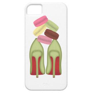 El rojo basa los zapatos, los tacones altos y los funda para iPhone 5 barely there