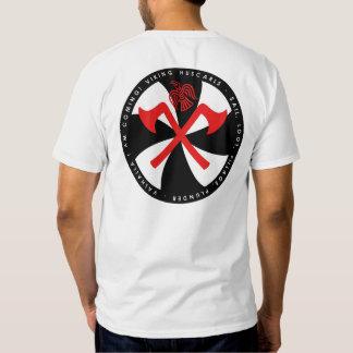 El rojo blanco y negro de Viking Huscarl disminuye Camisas