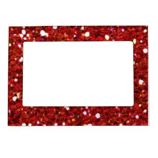 El rojo brilla marco magnético marcos magneticos para fotos