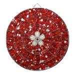 El rojo brilla tablero de dardo tablero dardos