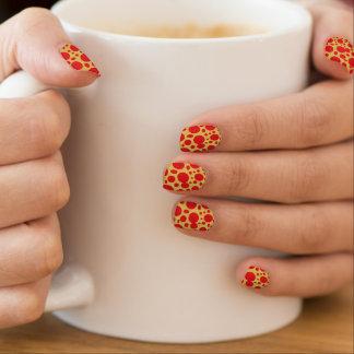 El rojo burbujea las etiquetas de la uña del fondo pegatinas para uñas