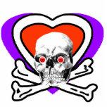 El rojo calcula visualmente el corazón del cráneo  esculturas fotográficas
