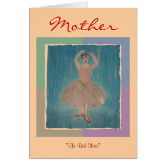 El rojo calza el ~ para cualquier madre, cualquier tarjeta pequeña