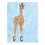 El rojo calza la jirafa postal