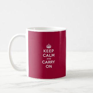 El rojo carmesí guarda calma y continúa taza clásica