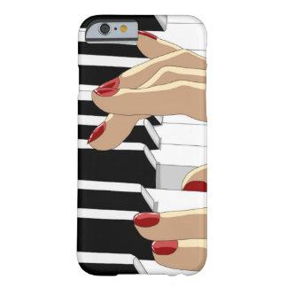 El rojo clava la caja del iPhone 6 del piano Funda De iPhone 6 Barely There
