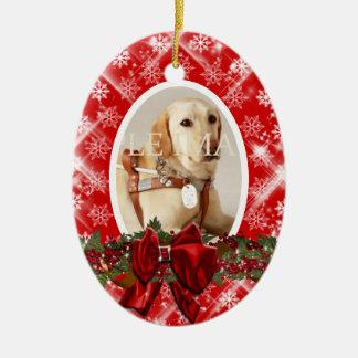 El rojo conmemorativo de la foto del mascota PERSO Adorno De Navidad