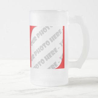 El rojo curva a Stein helado foto - cree sus los Taza De Cristal