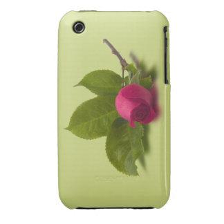 El rojo de Alec rojo del capullo de rosa Case-Mate iPhone 3 Carcasa