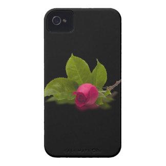 El rojo de Alec rojo del capullo de rosa Case-Mate iPhone 4 Cobertura