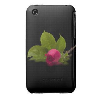 El rojo de Alec rojo del capullo de rosa iPhone 3 Protectores