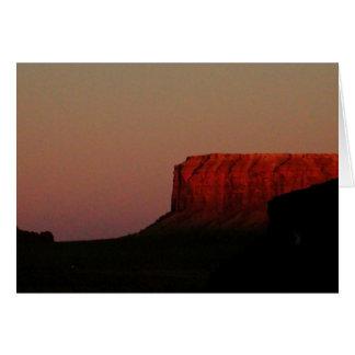 El rojo de Arizona Sedona oscila la tarjeta de