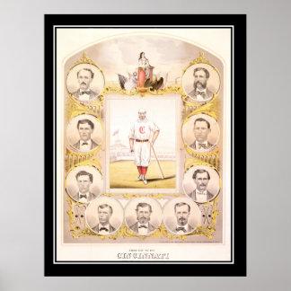 El rojo de Cincinnati pega el poster 1864 del vint