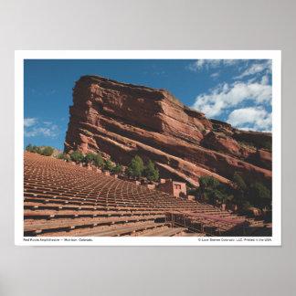 El rojo de la 3103 oscila el poster del Amphitheat