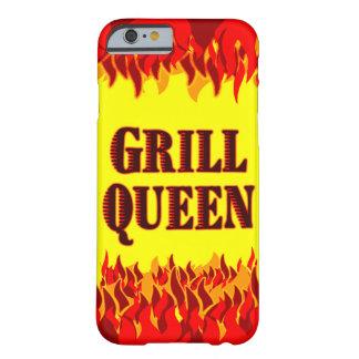El rojo de la reina de la parrilla flamea el caso funda para iPhone 6 barely there