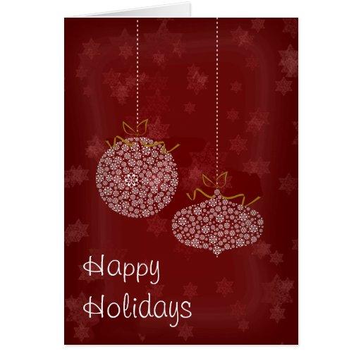 El rojo de las Felices Navidad protagoniza la tarj Tarjeta