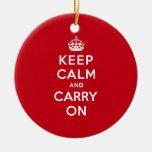 El rojo de Londres guarda calma y continúa Ornamento De Navidad