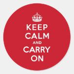 El rojo de Londres guarda calma y continúa Pegatinas Redondas