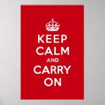 El rojo de Londres guarda calma y continúa Posters