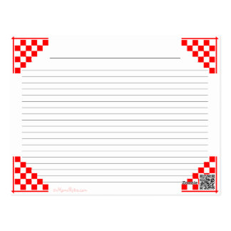 El rojo de los equivalentes de la cocina comprobad tarjeta postal