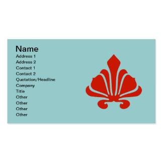 El rojo de lujo de la flor de lis, añade su texto tarjetas de visita