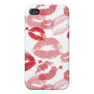 El rojo de rubíes besa el caso del iPhone de la mo iPhone 4/4S Carcasa