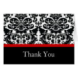El rojo del damasco le agradece tarjeta de nota
